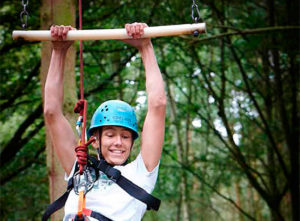 English summer camps. Outdoor adventure activity in Scotland Dalguise