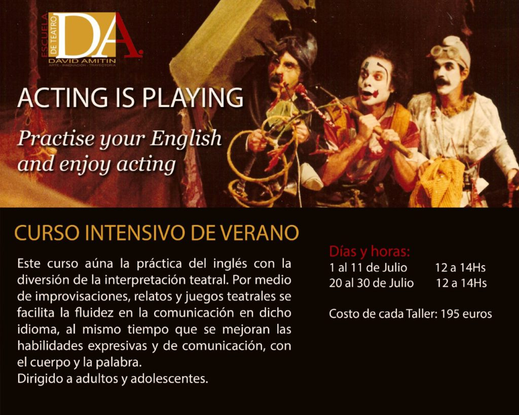 Theater workshops in English